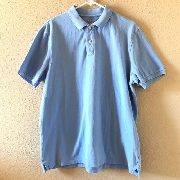 Crew Factory Men's Slim Fit Navy Blue White Thin Striped Polo Shirt L XL NWT J